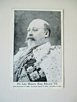 Antique Old Collectable Royalty  Postcard His Late Majesty King Edward  FREEPOST