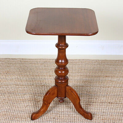 Antique Victorian Tripod Table Mahogany Console Lamp Table