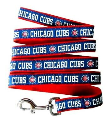Chicago Cubs Nylon Pet Leash - MD 5/8 In W x 4 Ft L; MLB Official; Pets First