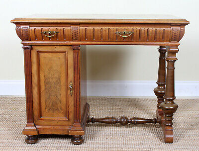 Antique Swedish 19th Century Desk Walnut Writing Table Biedermeier