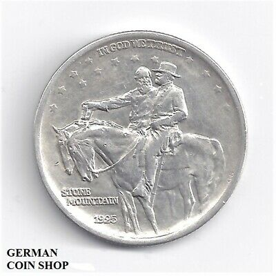 Silber USA Half Dollar Stone Mountain Memorial 1925 - Silver US 1/2 $