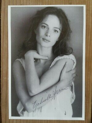 Gabrielle Anwar VTG 90's HER Signed Postcard The Tudors Scent of a Woman Actress