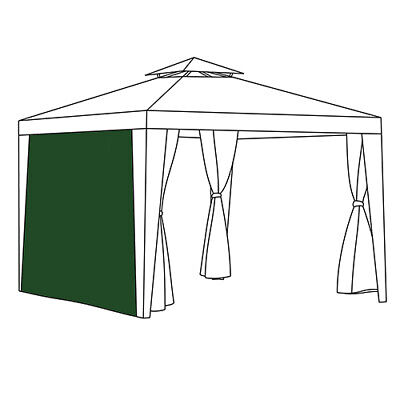 Green Curtain Side Panel Patio Gazebo Outdoor Privacy Universal Fit 1.9m x 2.6m