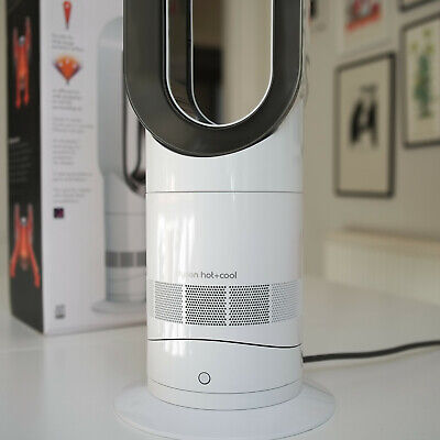 Dyson AM09  Hot+Cool Jet Focus Fan Heater - White/Nickel