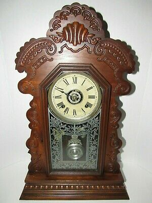 Antique Ansonia Kitchen Clock with Alarm, 8-Day, Time/Strike, Key-wind