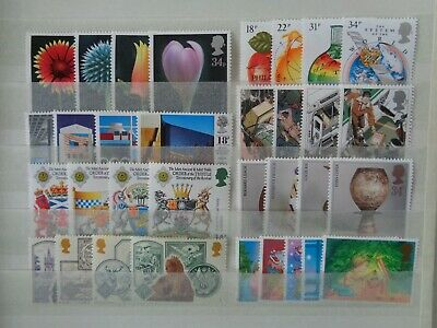 GREAT BRITAIN 1987 COMMEMORATIVE STAMPS YEAR SET MNH MINT 8 x SETS 33 x STAMPS