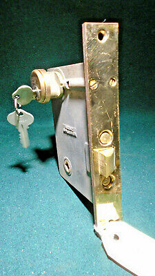 SARGENT #6840 1/2  PUSH BUTTON BRASS ENTRY MORTISE LOCK w/KEYS  (12090)