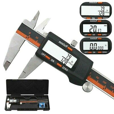 DANIU 150mm Stainless Steel LCD Screen Display Digital Caliper 6 Inch Fraction /