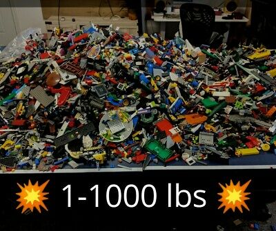 💥😍🤑1 to 1000 POUNDS LB of LEGO PIECES FROM HUGE BULK LOT PARTS