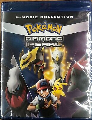 Pokemon Diamond And Pearl 4-Movie Collection (Blu-ray, 2019) Brand New Sealed