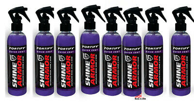 Shine Armor Fortify Quick Coat Ceramic Waterless Wash Protect 8 Bottles