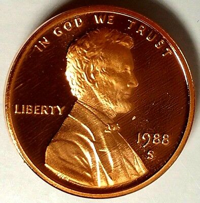 1988-S 1C Lincoln Memorial Cent 18ct1223-1 GDC Proof Only 50 Cents for Shipping