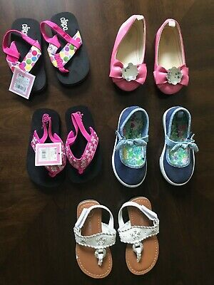 867671543d90 LOT OF 5 Toddler Girls Shoes GAP, Carter's, Circo, Cherokee 2 Items NWT