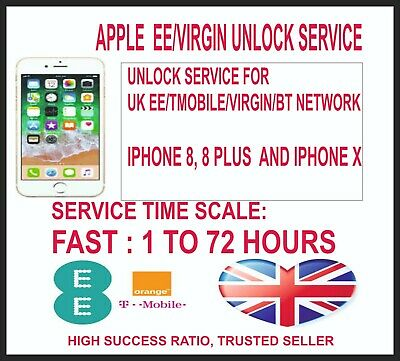 Ee Uk Iphone Unlock Service For Iphone 8, 8 Plus And Iphone X (Iphone 10)