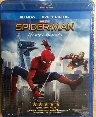 Spider-Man: Homecoming (Blu-ray + DVD + Digital) Brand New Sealed FREE SHIPPING