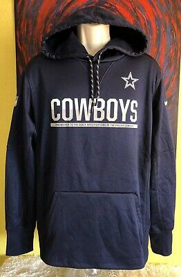 low priced f0a2a bc9bc DALLAS COWBOYS NIKE Therma-FIT PO Sideline Sweatshirt Hoodie ...