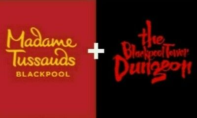 2 x TICKETS MADAME TUSSAUDS & BLACKPOOL TOWER DUNGEON SATURDAY 3rd AUGUST 3/8/19