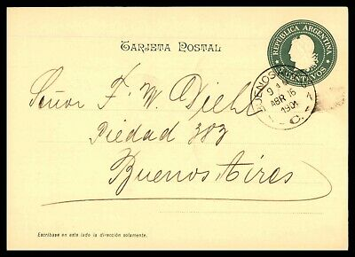 Stamps Argentina 1923 5c Postal Stationery Card Lucas Gonzalez To Wittenberg Germany