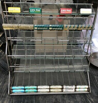 LIFE SAVERS CANDY GUM MINTS SHELF RACK Store  DISPLAY With Glass Intact