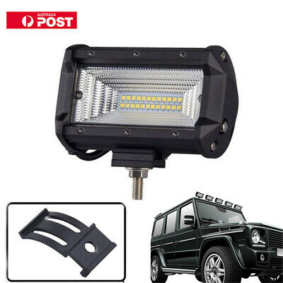 72W 5Inch LED Work Flood Square Spot Light Off Road Car Truck Boat SUV Lamp AU