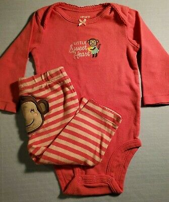 792284bb2 Carters Brand Girls Size 6-Months 2-Pc Outfit-Snap Shirt and Long
