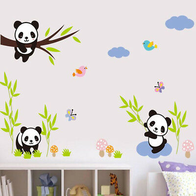 Wall Decals Panda Pattern Wall Stickers Removable Children Bedroom Supplies SO