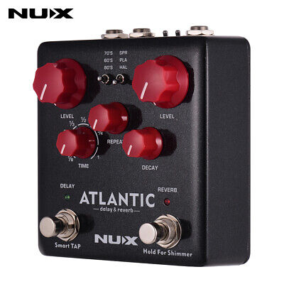NUX ATLANTIC Delay & Reverb Guitar Effect Pedal Dual Footswitch True Bypass B8N5
