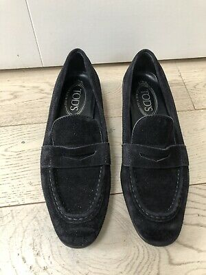 Tods Womens Loafers Shoes Size 36.5(3.5 UK) Black