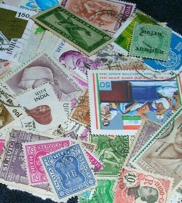 India Postage stamps over 100 mixed in gr cond