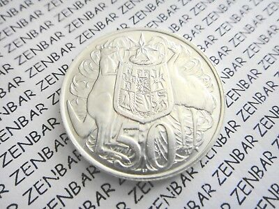 AUSTRALIAN 1966  50c Cent Round Decimal Silver Coin - 80% Silver (1) One Coin #1