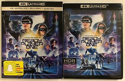 Ready Player One 4K Ultra Hd Blu Ray 2 Disc Set + Slipcover Sleeve Free Shipping