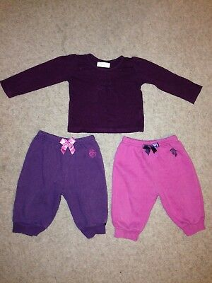 86fb08b08 Tracksuit Age 9 Months Outfit Bundle Set Jogging Pants Top T Shirt Baby  Girls