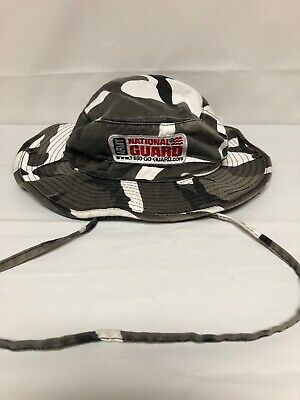 60039a13c NATIONAL GUARD FISHING Hat Outdoors Hunting Camo Cap USA Flag Vented ...