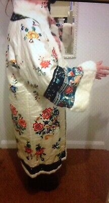 Art Deco Chinese 1920s Embroidered Silk Coat