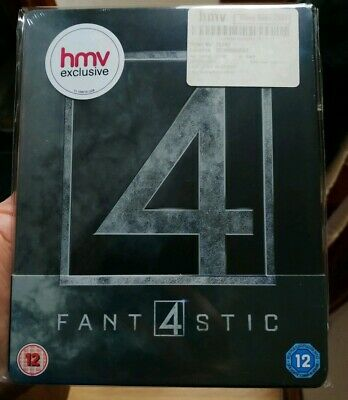 Fantastic 4 HMV Exclusive UK Blu Ray Steelbook New and Sealed