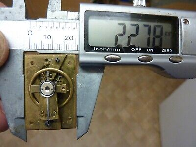 Old French Clock ?  Platform Escapement--Spares Or Repair (S) Free Post