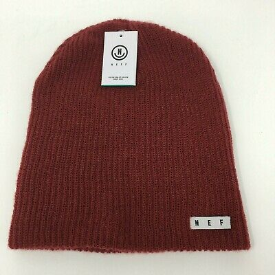 9ea7dcb52c02 NEFF DAILY RED Beanie Hat One Size Mens Women Unisex NEW NWT ...
