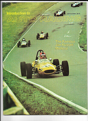 1974 Introduction To AUTO RACING The JIM RUSSELL Method EMERSON FITTIPALDI illus