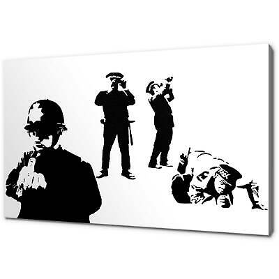 Banksy Coppers Graffiti Canvas Picture Print Wall Art Free Fast Delivery