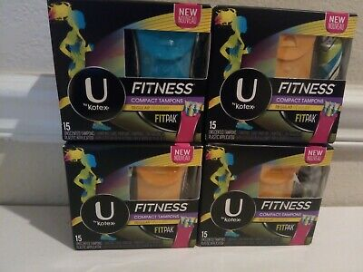 U by Kotex Fitness Compact Unscented Fitpak regular tampons