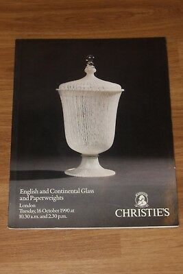 Christie's  Auction  Catalogue  English & Continental Glass & Paperweights  Vgc