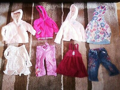 Bundle Girls Clothes, 4 lovely Coats (3 M&S), trousers, tops 6-9 months.