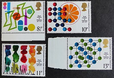 GB 1977 Centenary of Royal Institute of Chemistry - MNH Stamp Set (SG 1029-1032)