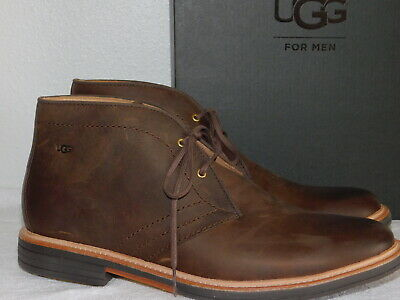 46b65f54ad0 NEW MENS SIZE 10.5 Grizzly Ugg Dagmann Leather Chukka Boots Lace Up Shoes  $200