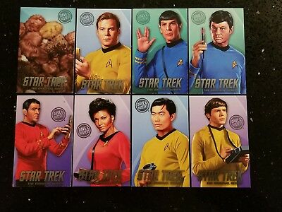Dave and Buster's Star Trek TOS Full Set Including Rare Tribbles Card