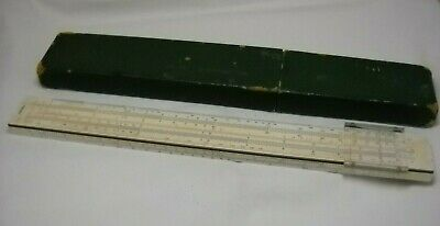 Vtg A.W. Faber-Castell 1/54 Darmstadt Slide Rule made in Germany w/Case #2