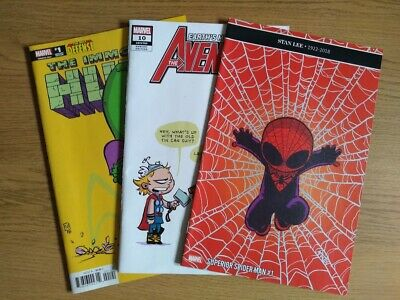 Skottie Young Marvel Comics variant covers, 3 issues sold as one lot