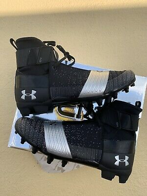 2bf9e035defd Under Armour UA C1N MC Football Cleat Black Silver Cam Newton 3000175 Size  12
