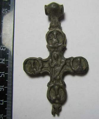 Cross reliquary  Byzantine - Kievan Rus - medieval  100% original Ancient cross