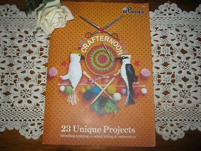 NEW.Crafternoon,23 Unique Projects-Knitting,Crochet,Felting,Embroidery.Panda 700